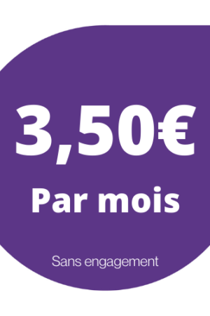 Abonnement 3,50€/mois